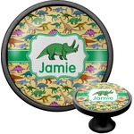 Dinosaurs Cabinet Knob (Black) (Personalized)