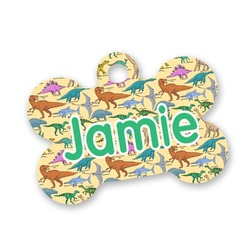 Dinosaurs Bone Shaped Dog Tag (Personalized)