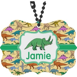 Dinosaurs Rear View Mirror Decor (Personalized)