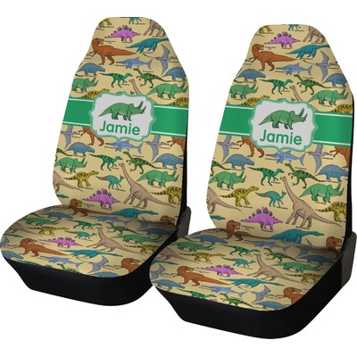 dinosaurs car seat covers set of two personalized youcustomizeit. Black Bedroom Furniture Sets. Home Design Ideas