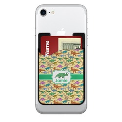 Dinosaurs 2-in-1 Cell Phone Credit Card Holder & Screen Cleaner (Personalized)