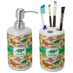Dinosaurs Bathroom Accessories Set (Ceramic) (Personalized)