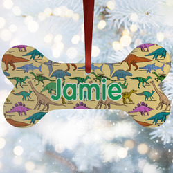 Dinosaurs Ceramic Dog Ornaments w/ Name or Text