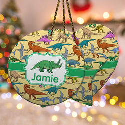 Dinosaurs Ceramic Ornament w/ Name or Text