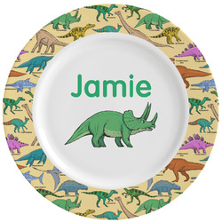 Dinosaurs Ceramic Dinner Plates (Set of 4) (Personalized)