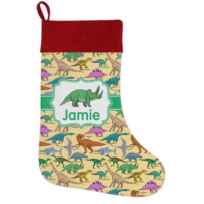 Dinosaurs Holiday / Christmas Stocking (Personalized)