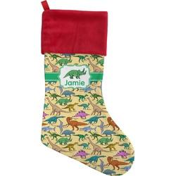 Dinosaurs Christmas Stocking - Single-Sided (Personalized)