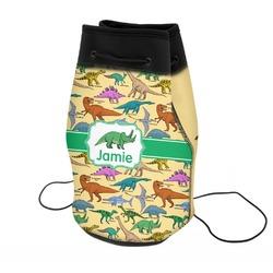 Dinosaurs Neoprene Drawstring Backpack (Personalized)