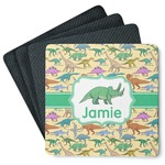 Dinosaurs 4 Square Coasters - Rubber Backed (Personalized)