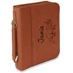 Dinosaurs Leatherette Book / Bible Cover with Handle & Zipper (Personalized)