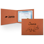 Dinosaurs Leatherette Certificate Holder (Personalized)
