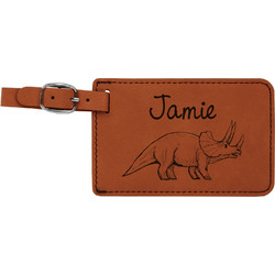Dinosaurs Leatherette Luggage Tag (Personalized)