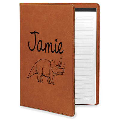 Dinosaurs Leatherette Portfolio with Notepad (Personalized)