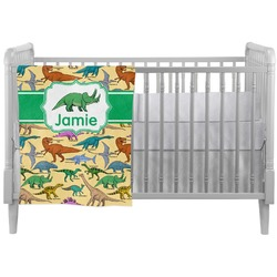 Dinosaurs Crib Comforter / Quilt (Personalized)