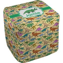 "Dinosaurs Cube Pouf Ottoman - 18"" (Personalized)"