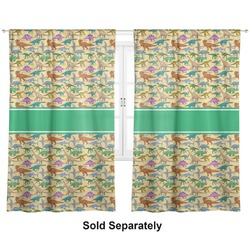 """Dinosaurs Curtains - 40""""x54"""" Panels - Unlined (2 Panels Per Set) (Personalized)"""