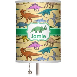 """Dinosaurs 7"""" Drum Lamp Shade (Personalized)"""