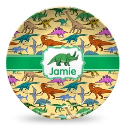 Dinosaurs Microwave Safe Plastic Plate - Composite Polymer (Personalized)