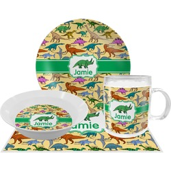 Dinosaurs Dinner Set - 4 Pc (Personalized)
