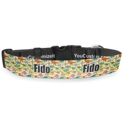 Dinosaurs Deluxe Dog Collar (Personalized)