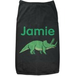 Dinosaurs Black Pet Shirt (Personalized)