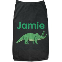 Dinosaurs Black Pet Shirt - 2XL (Personalized)