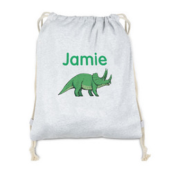 Dinosaurs Drawstring Backpack - Sweatshirt Fleece (Personalized)