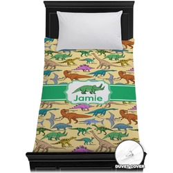 Dinosaurs Duvet Cover - Twin (Personalized)