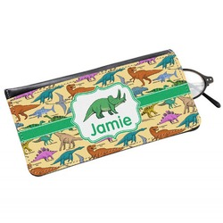 Dinosaurs Genuine Leather Eyeglass Case (Personalized)