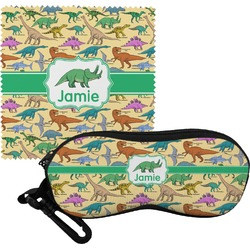 Dinosaurs Eyeglass Case & Cloth (Personalized)