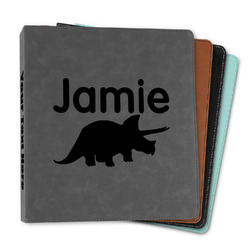 """Dinosaurs Leather Binder - 1"""" (Personalized)"""
