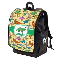 Dinosaurs Backpack w/ Front Flap  (Personalized)