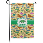 Dinosaurs Single Sided Garden Flag With Pole (Personalized)