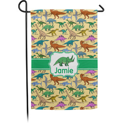 Dinosaurs Garden Flag - Single or Double Sided (Personalized)