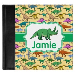 Dinosaurs Genuine Leather Baby Memory Book (Personalized)