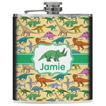 Dinosaurs Genuine Leather Flask (Personalized)