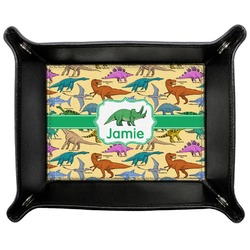 Dinosaurs Genuine Leather Valet Tray (Personalized)