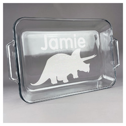 Dinosaurs Glass Baking and Cake Dish (Personalized)