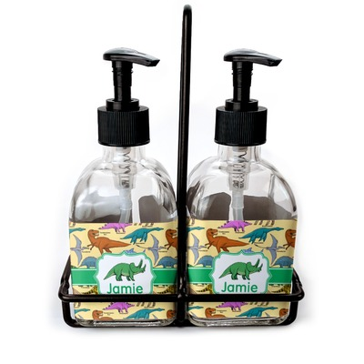 Dinosaurs Soap & Lotion Dispenser Set (Glass) (Personalized)