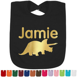 Dinosaurs Foil Baby Bibs (Select Foil Color) (Personalized)