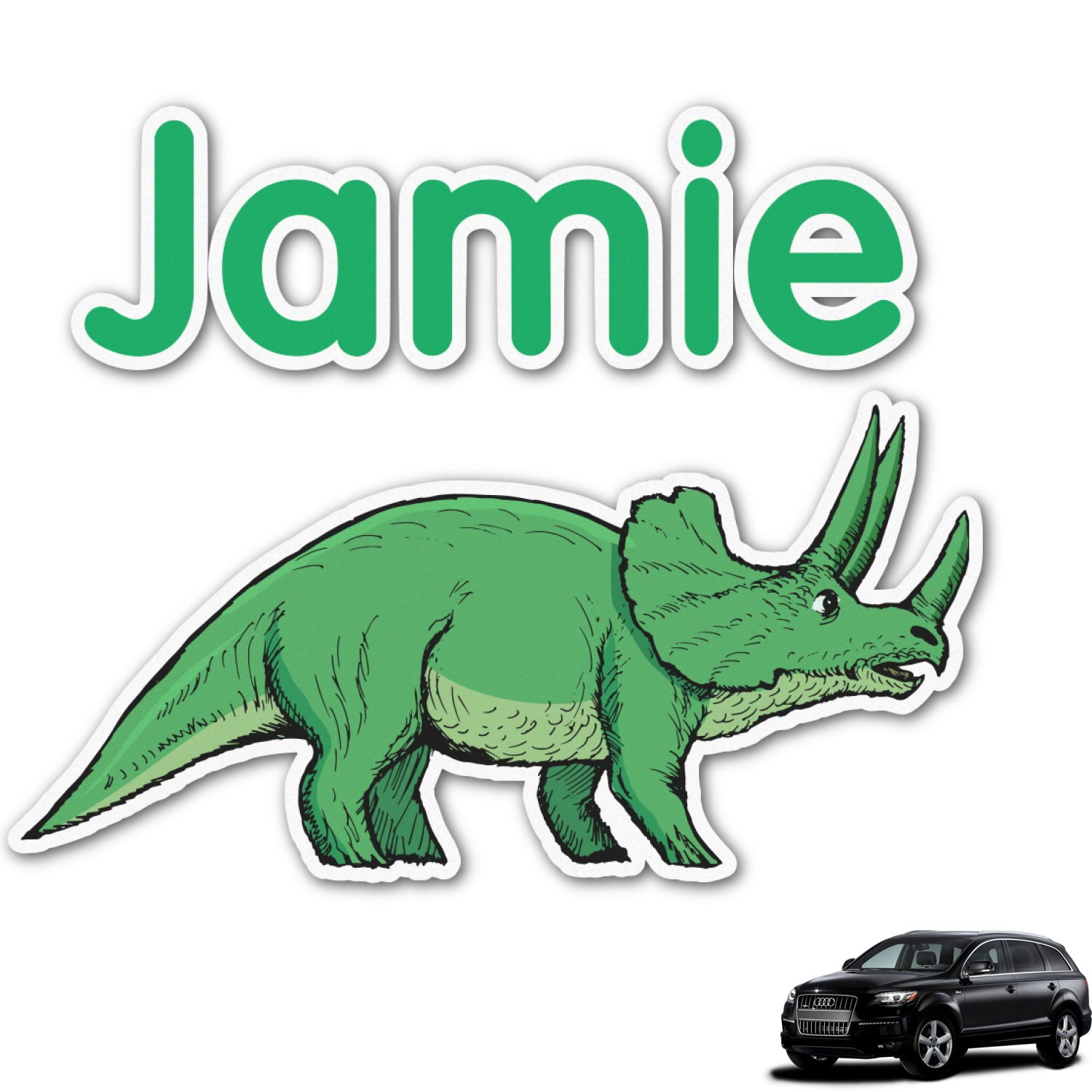 Dinosaurs Graphic Car Decal Personalized