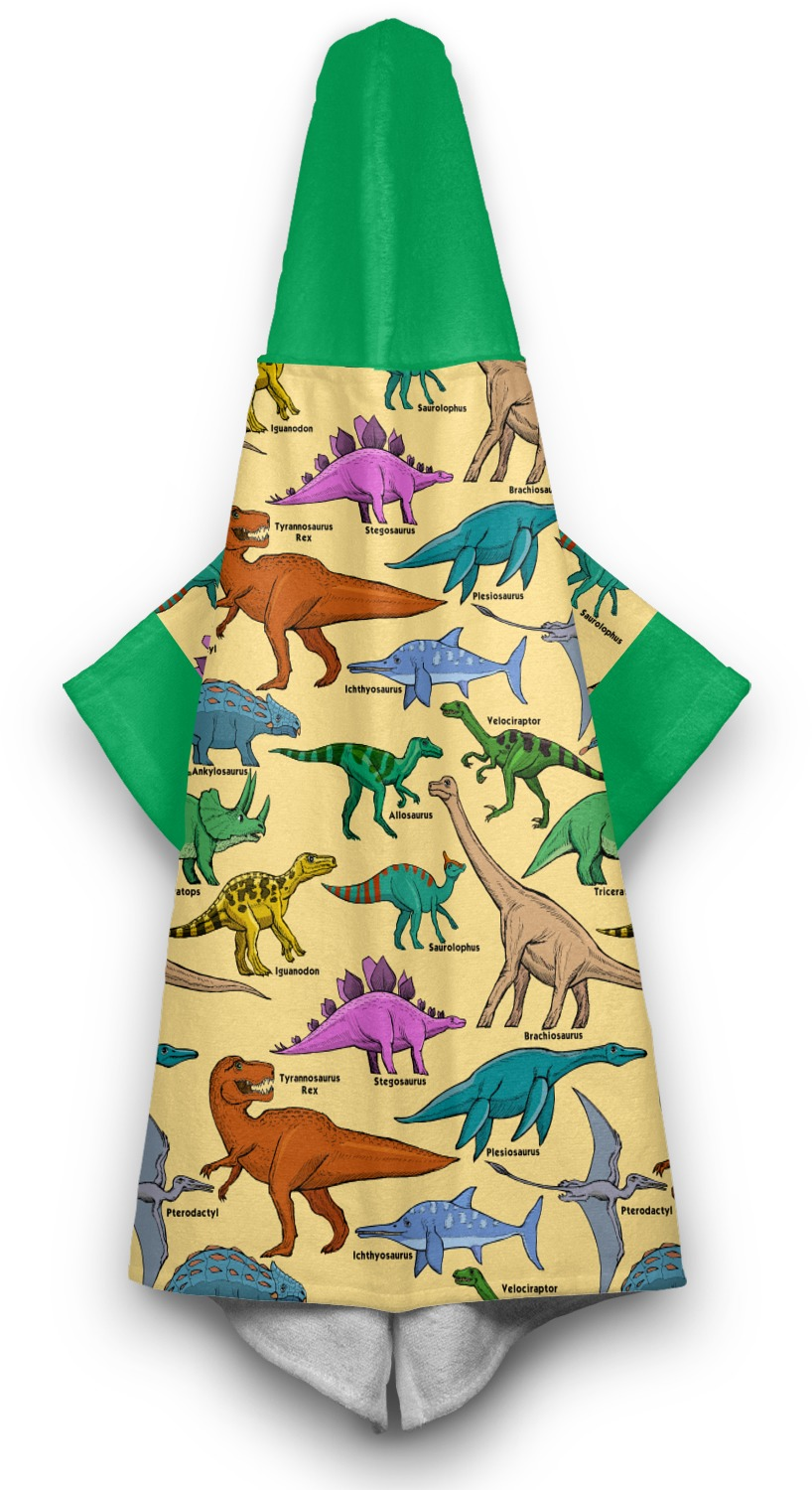 Dinosaurs Hooded Towel Personalized Youcustomizeit