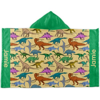 Dinosaurs Kids Hooded Towel (Personalized)