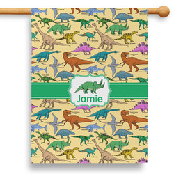 """Dinosaurs 28"""" House Flag (Personalized)"""