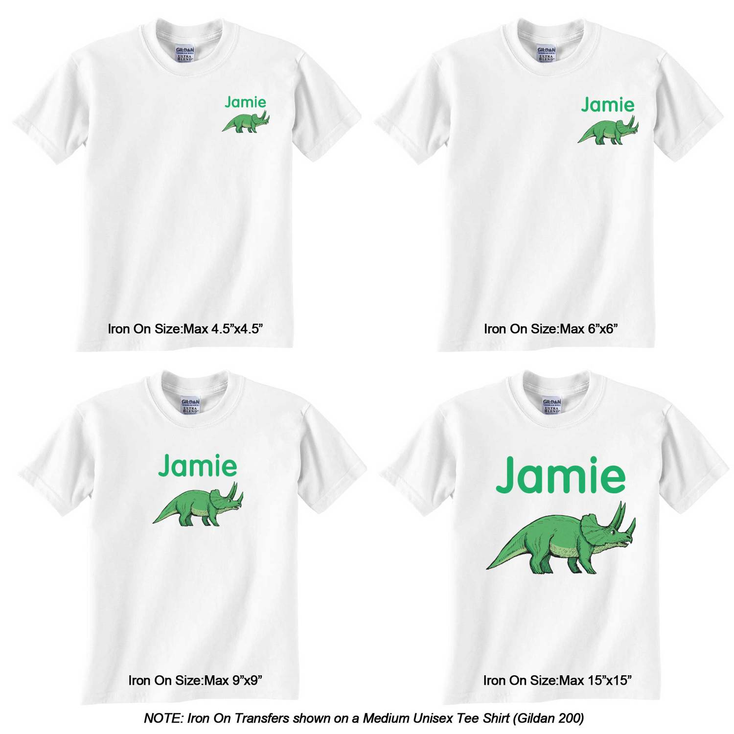 Dinosaurs Graphic Iron On Transfer Personalized Youcustomizeit