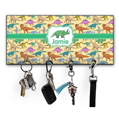 Dinosaurs Key Hanger w/ 4 Hooks w/ Graphics and Text