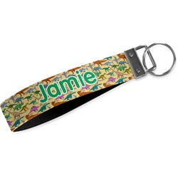 Dinosaurs Webbing Keychain Fob - Small (Personalized)
