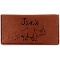 Dinosaurs Leatherette Checkbook Holder (Personalized)