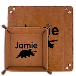 Dinosaurs Faux Leather Valet Tray (Personalized)