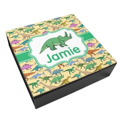 Dinosaurs Leatherette Keepsake Box - 8x8 (Personalized)